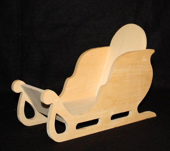 Trineo Mini Claus de Santa, trineo de madera, trineo Decor, inacabada trineo de madera, Navidad trineo, trineo de vacaciones, casa de madera trineo acento                                                                                                                                                                                 Más