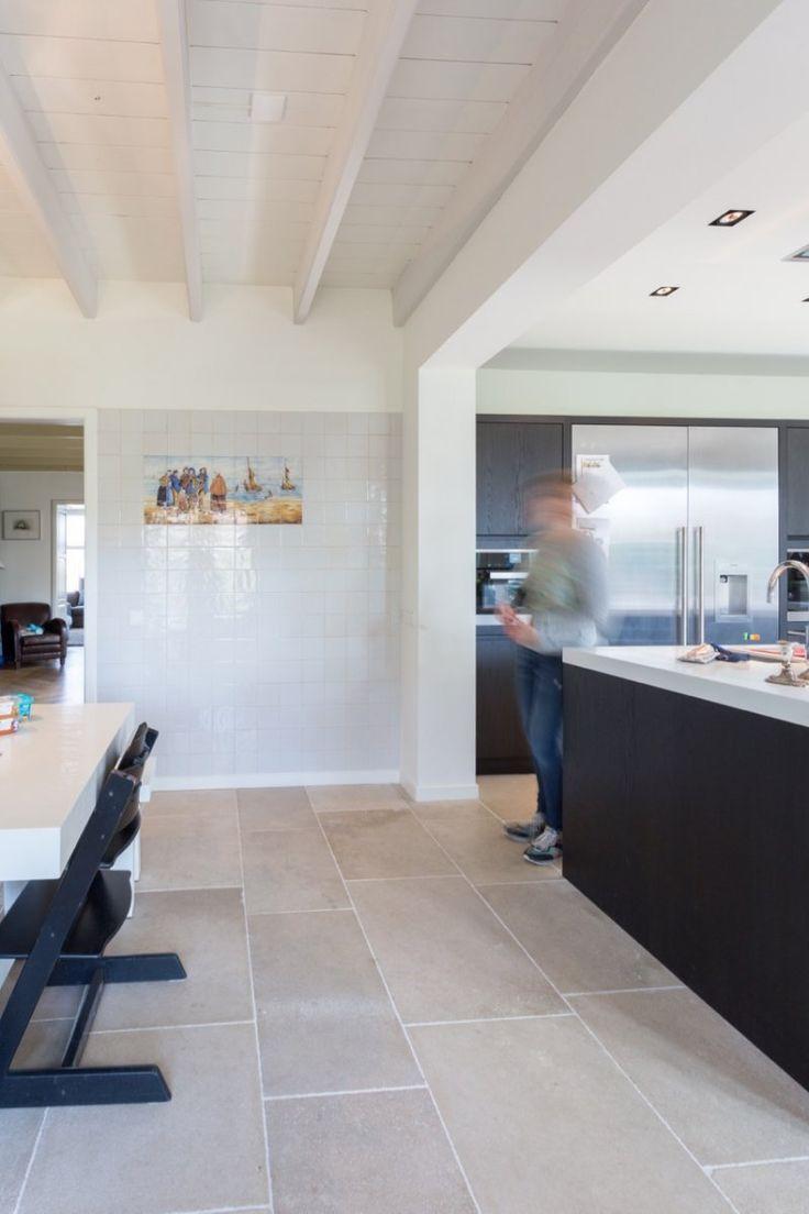 Realisatie Bourgondische dallen - Franse kalksteen niveaux gris