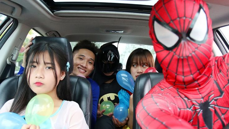 Batman DRUNK Superman & Frozen Elsa Quit boyfriend Spiderman drive a car...