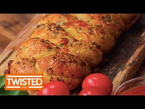 Garlic Bread Pizza Braid - Twisted