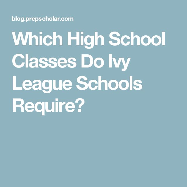 Which High School Classes Do Ivy League Schools Require?