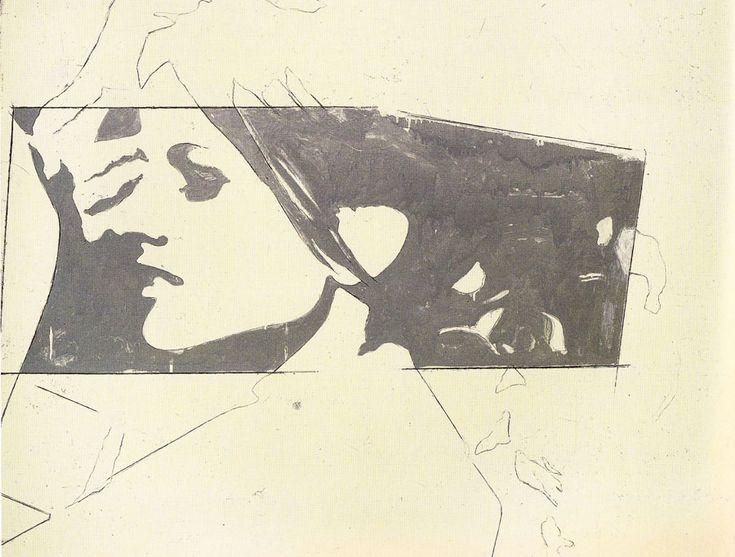 GIOSETTA FIORONI'S BEAUTIFUL HAND-RENDERED ARTWORK  Keywords: Italy, Italian, Pop Art, Giosetta Fioroni, female Pop Art, artist, portrait