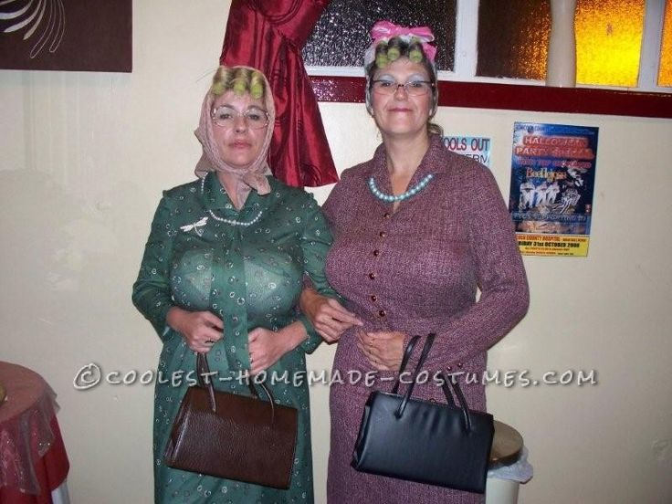 Quirky Homemade Costume Idea: Edna and Mavis the Two Old Ladies