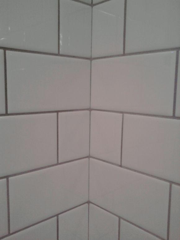 White Subway Tile With Light Grey Grout Bathroom Reno Pinterest Grey Grout White Subway