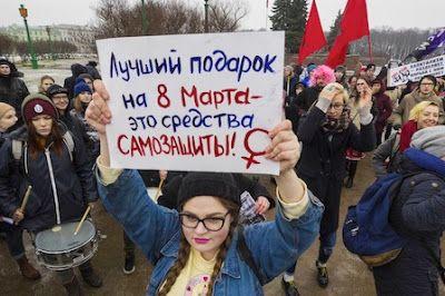 Rusia, donde una mujer muere asesinada cada 40 minutos. En la Federación Rusa no hay una ley específica contra la violencia de género ni doméstica. Elena Vicéns | El País, 2016-11-23 http://internacional.elpais.com/internacional/2016/11/23/actualidad/1479899071_759756.html
