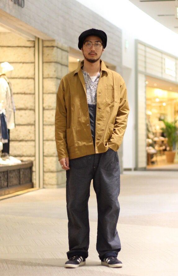印 阪急西宮ガーデンズ店 オーバーオール、カバーオールデザインのシャツジャケットでワークスタイル提案。