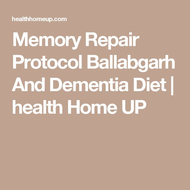 memory loss and diet