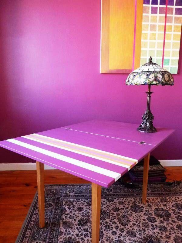 bureau tables pop flakes fait maison fluo. Black Bedroom Furniture Sets. Home Design Ideas