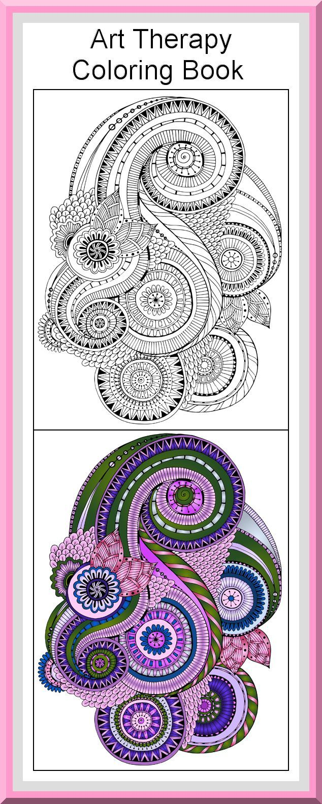 Mandala coloring pages art therapy recovery - Printable Art Therapy Coloring Pages 30 High Definition Coloring Pages Black Outlines With Colored Examples This Mandala Art Therapy Coloring Page Is Fro
