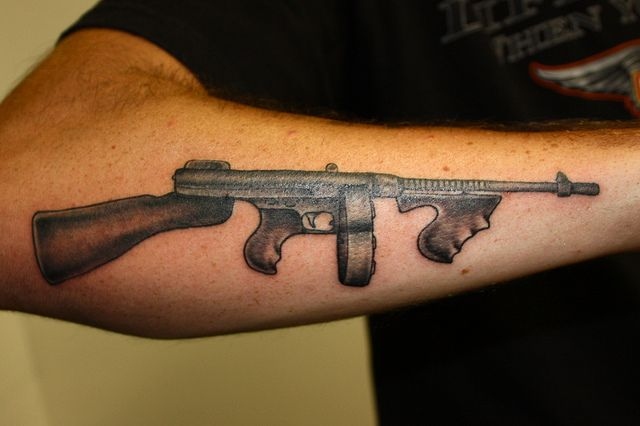 good old thompson gun tattoos pinterest