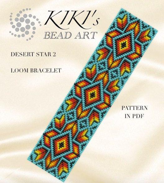 Bead loom pattern Desert star 2 LOOM bracelet by KikisBeadArts
