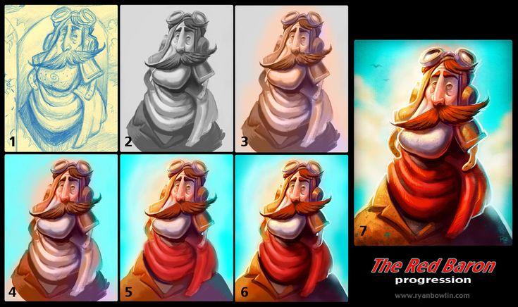 The Red Baron: Tutorial by RynoZebz.deviantart.com on @deviantART