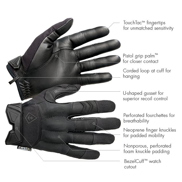 Hard Knuckle Gloves   First Tactical
