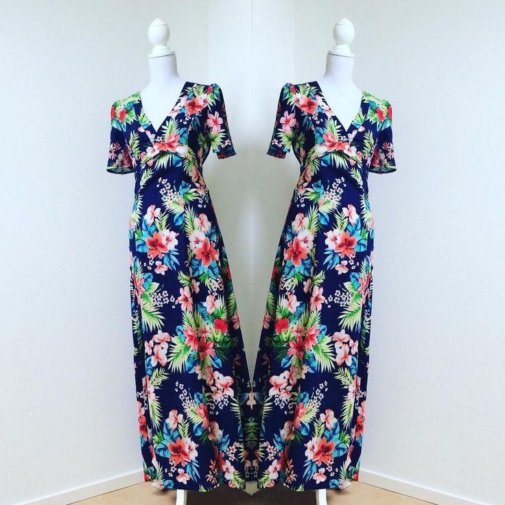 PUALANI Cotton Maxi Dress with Front Split