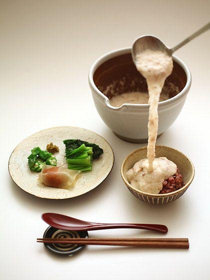 とろろ汁定食(grated yam soup)