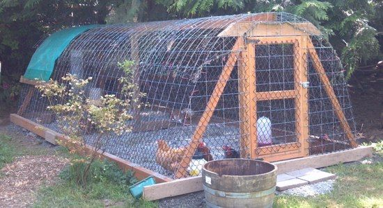 Hoop Coop Chicken Coop, made with 75% recycled materials. (Washington)Long South, Feet Long, Chicken Coops Long Fish Nets 1, Coops Tours, Chicken Pen, Queens Bees, Hoop Coops, Coops Style, Bees Coupon