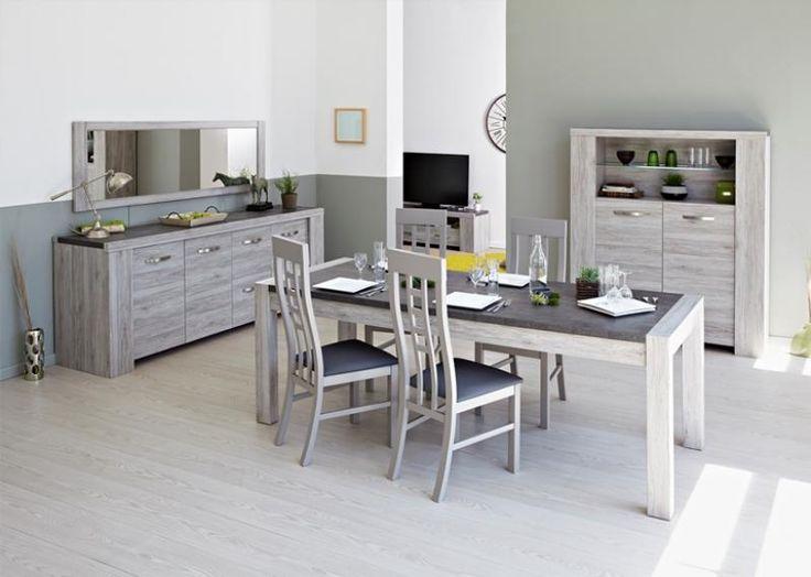 Portofino grey oak dining room
