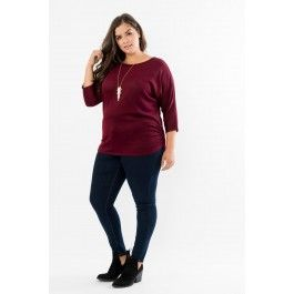 Dolman Top with Side Ruching