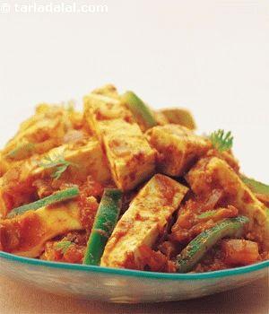 Kadai Paneer recipe | Indian Microwave Recipes | by Tarla Dalal | Tarladalal.com | #2765