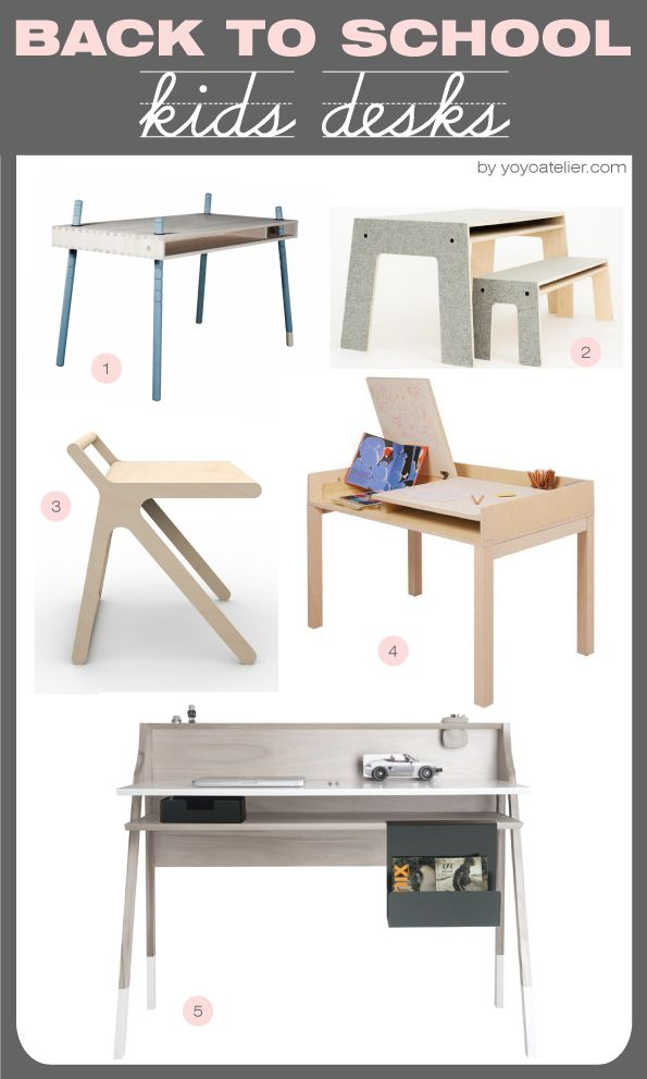 YoYo atelier - LE SCRIVANIE PIU' BELLE PER BAMBINI. Focus on #kidsdesks. This…