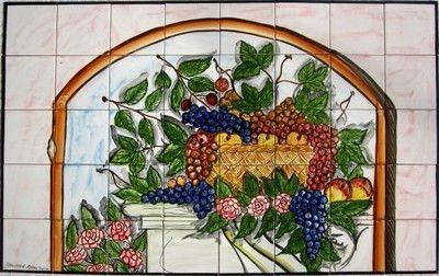 decorative ceramic tiles large mosaic kitchen backsplash mural art 3