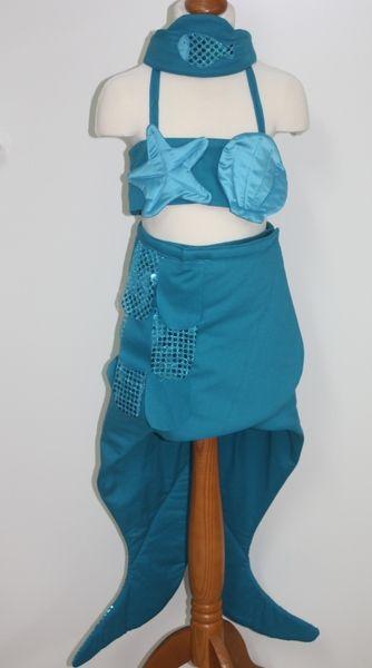 Meerjungfrauen-Kostüm in türkis, mitwachsend von Meila for Kids & Co. auf DaWanda.com