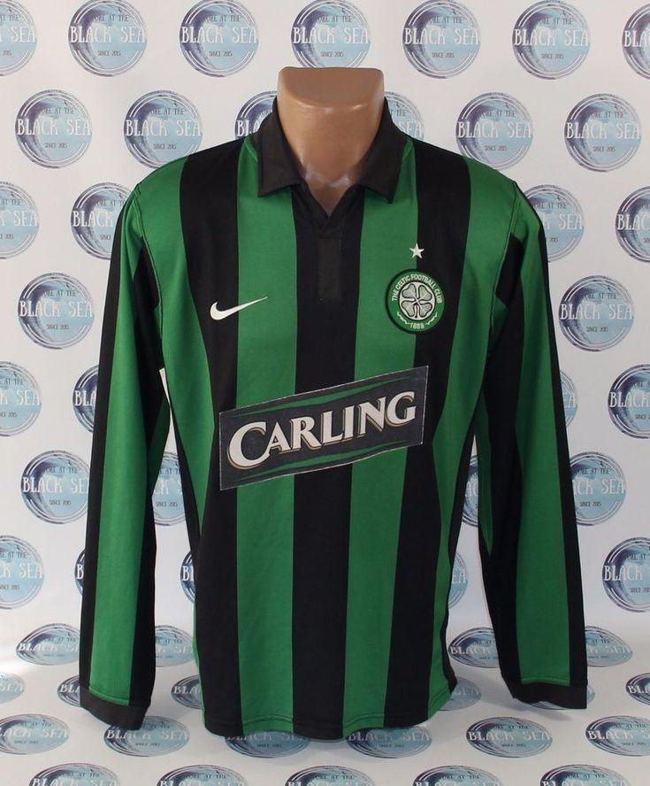 CELTIC 2006 2008 FOOTBALL SOCCER SHIRT JERSEY TRIKOT NIKE LONG SLEEVE M #Nike #Celtic