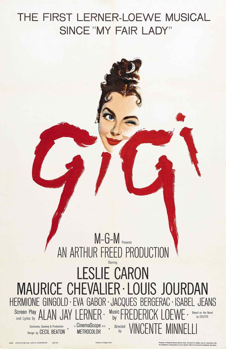 "gigi movie 1958 | Gigi"" movie poster (1958)"