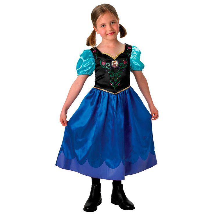Verkleed je als Anna van Disney Frozen met deze sprookjesachtige jurk.Afmeting: geschikt voor kinderen van 5 - 6 jaar - Disney Frozen Verkleedset Anna - M