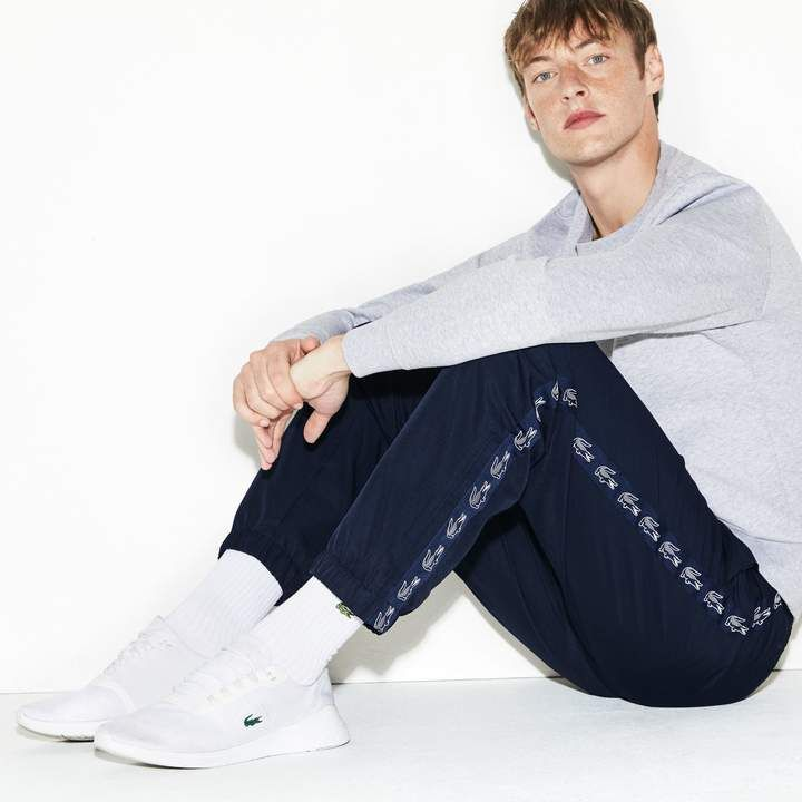 Men S Sport Band Tennis Sweatpants Pantalon De Survetement Survetement Lacoste Survetement