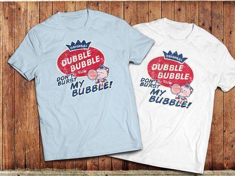 Retro Bubble gum T-Shirt, Dubble Bubble, 1980's style chewing gum, nostalgia