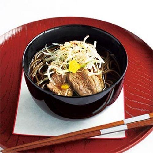 鴨そば(レシピ:ゆとりの空間)