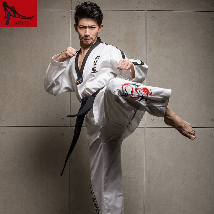 New Genuine High-end Poomsae Clothes Adult Men And Women Taekwondo Uniforms Long Sleeved Male Female Clothing