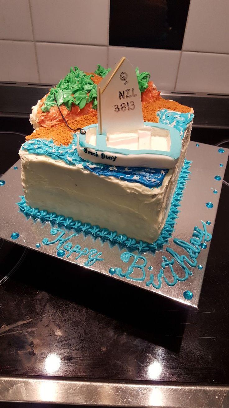 Homemade boat cake