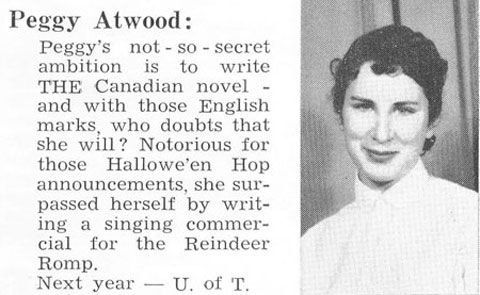 """Margaret """"Peggy"""" Atwood - Photos of Famous Authors asTeenagers"""