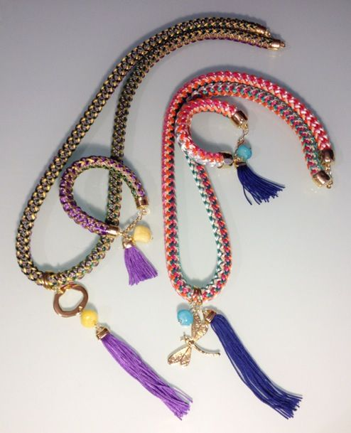 Colored rope sets with silk tassel #spring