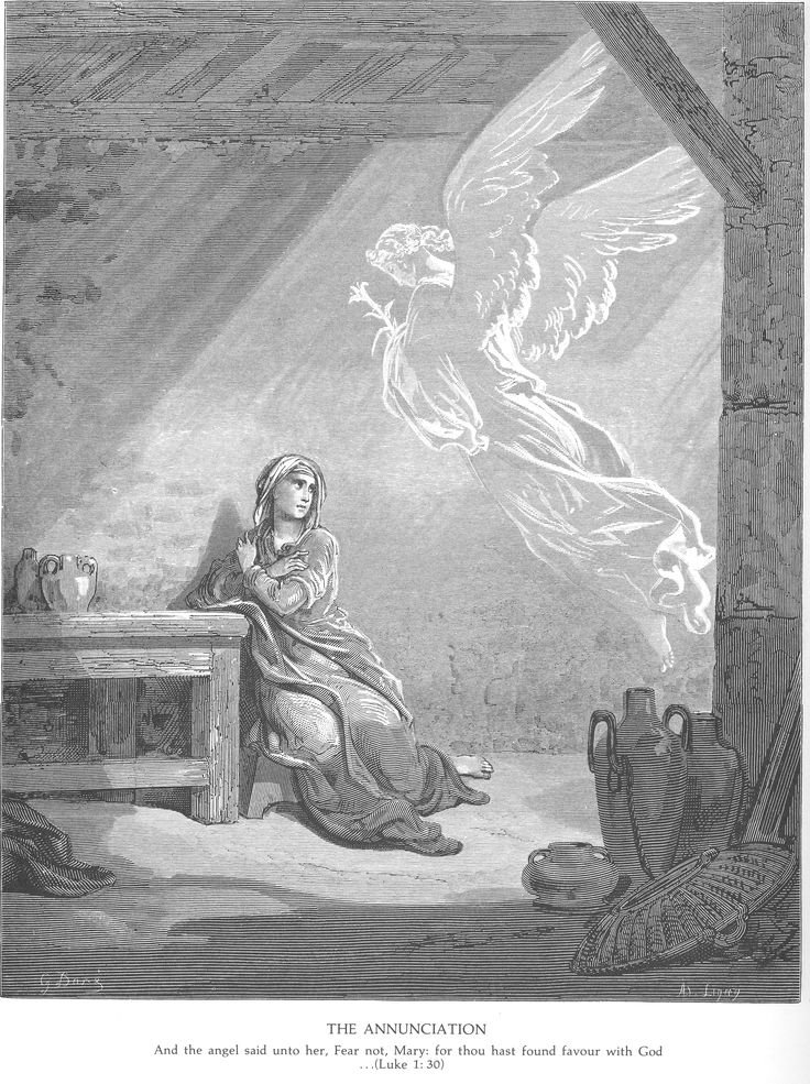 The Annunciation, Gustave Dore (1832 – 1883).