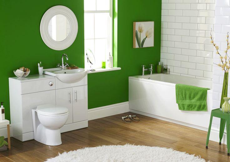 Bright Green Small Bathroom Remodel