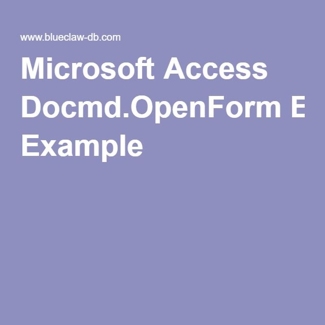 187 best Microsoft Access Programming Tutorials \ Example - vb sql programmer sample resume