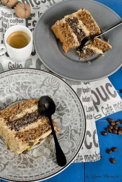 Маковый торт с кофейным кремом