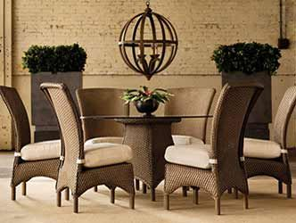 modern outdoor dining set with sophisticated style.