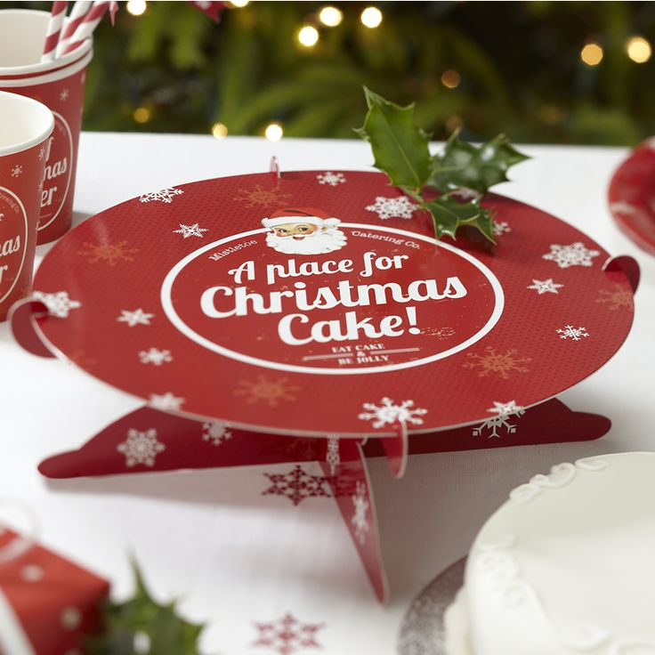 Christmas Cheer Vintage Christmas Cake Stand from Pink Frosting Christmas Shop