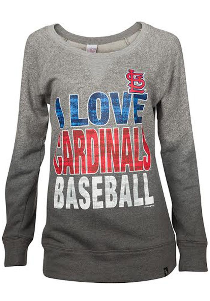 St Louis Cardinals Ladies Fit Tee - Grey STL Cardinals Stars and Stripes  Short Sleeve Ladies Fit Tee http   www.rallyhouse.com shop st-louis-cardin… ade6fe29b