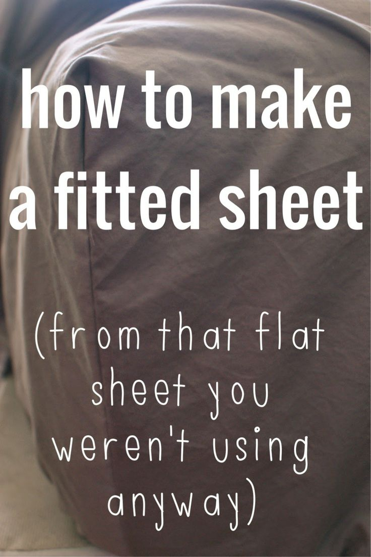 Tempting since O never uses a top sheet anyway.  Make a fitted sheet out of a flat sheet. #sewing #tutorial on poverty luxe.