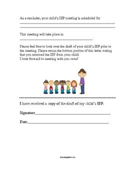 Best 25 parent conference form ideas on pinterest student self iep meeting reminder form for parents spiritdancerdesigns Images
