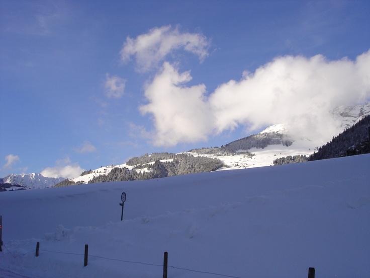 Engelberg, blauwe luchten