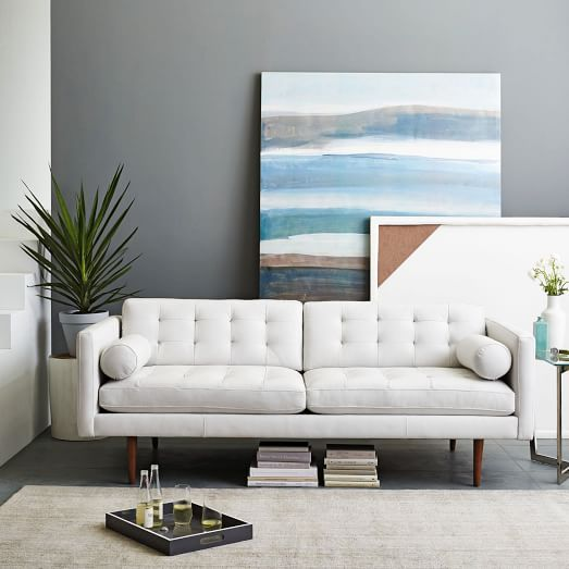 25 best ideas about white leather couches on pinterest for Best west elm sofa