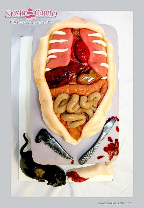 Brzuch, wnętrzności, jelita, wątroba, płuca, chirurgia, operacja, torty dla dorosłych