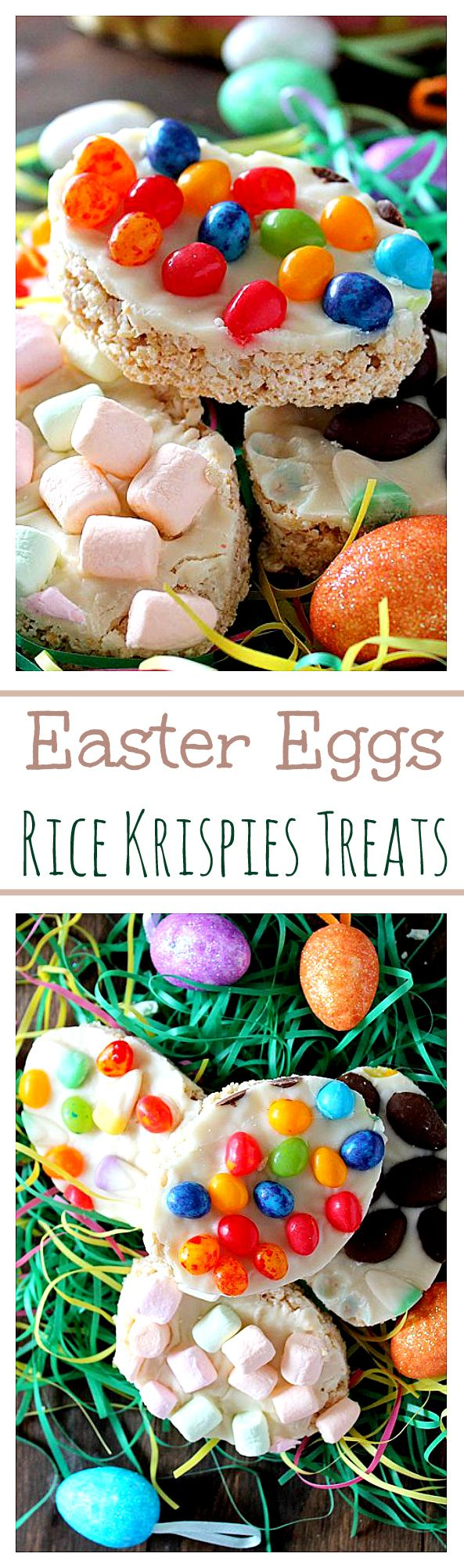 Easter Eggs Rice Krispies Treats - Make these super gooey Easter ...