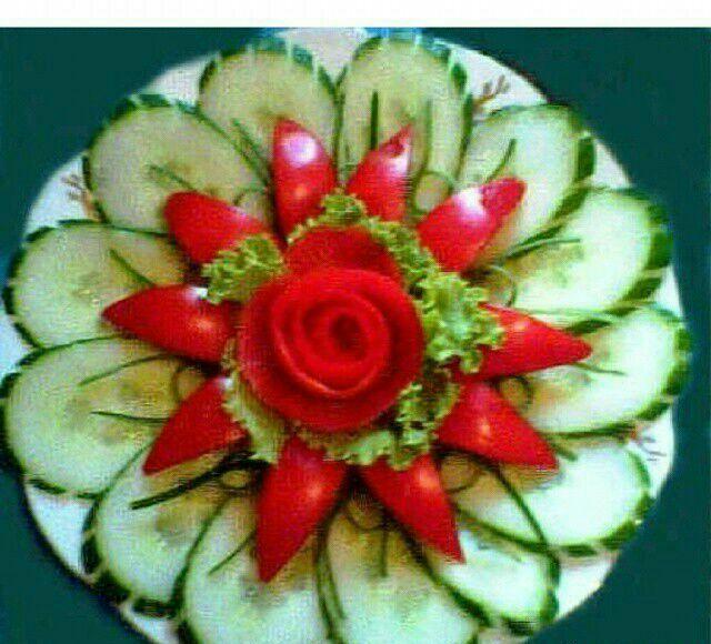Květ • z okurky a papriky